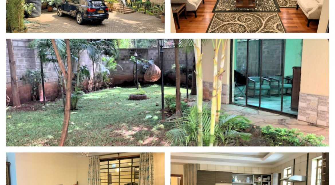 3 Bedroom Townhouse in Gated Community for Rent at Ksh300k on Peponi Rd with Large living, Dinning, Open large Kitchen. Spacious Bedrooms and Private garden1