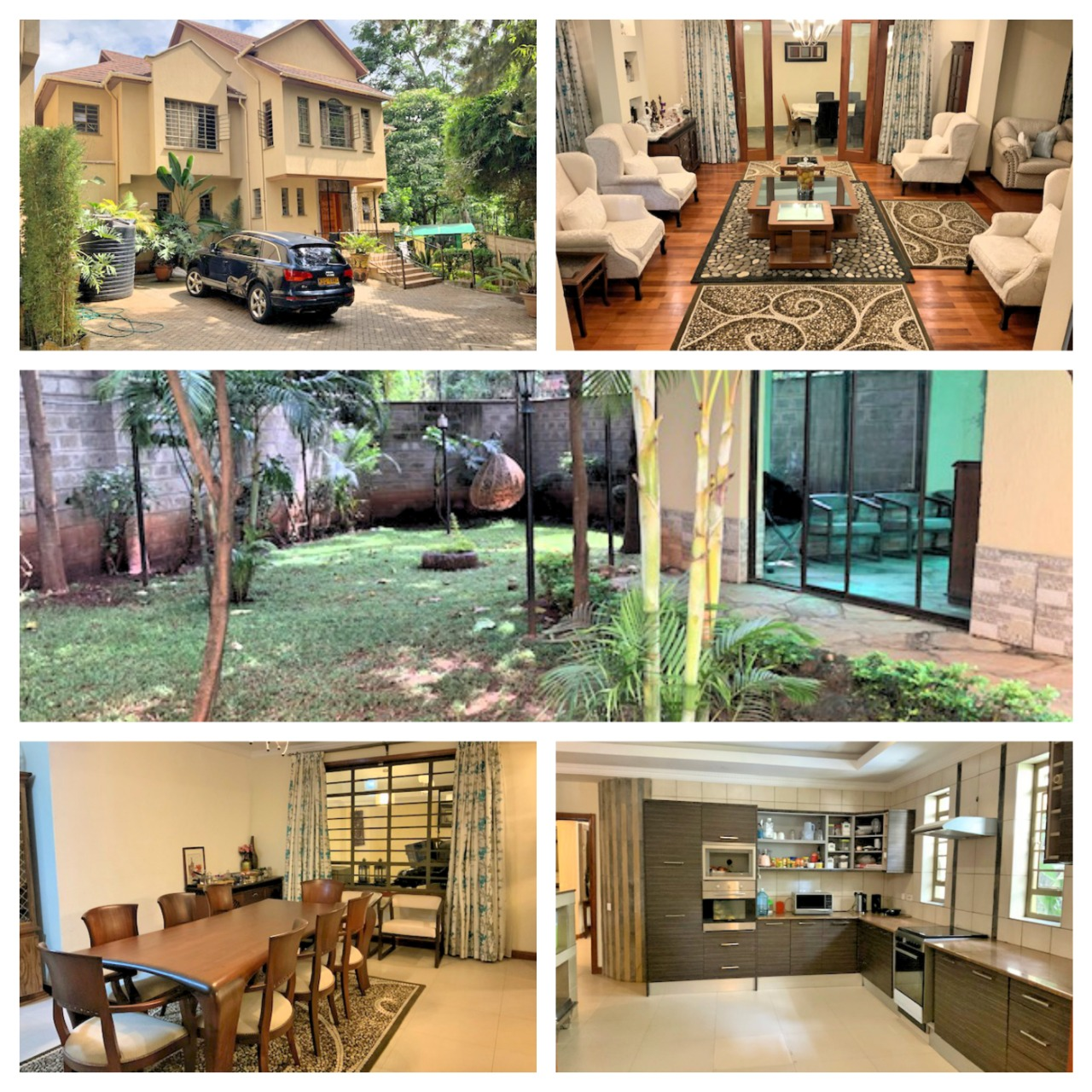 3 Bedroom Townhouse in Gated Community for Rent at Ksh300k on Peponi Rd with Large living, Dinning, Open large Kitchen. Spacious Bedrooms and Private garden