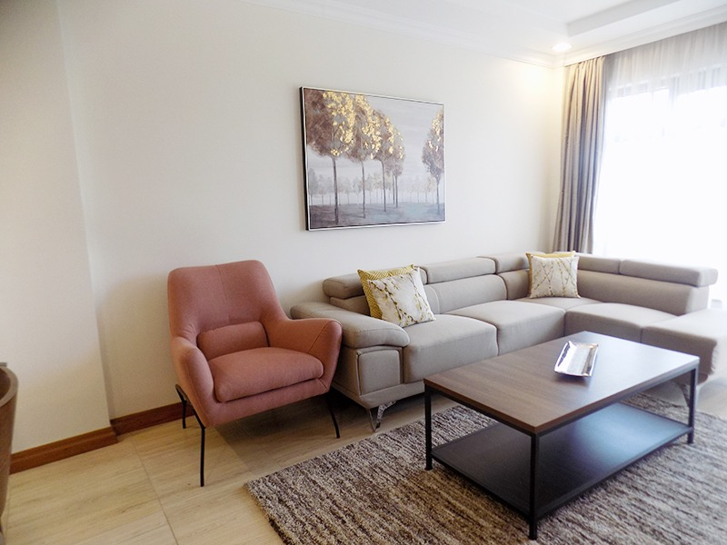 Two (2) Bedrooms Fully Furnished and Serviced Apartments for Rent at Ksh130k on Riverside Drive with outside balcony1
