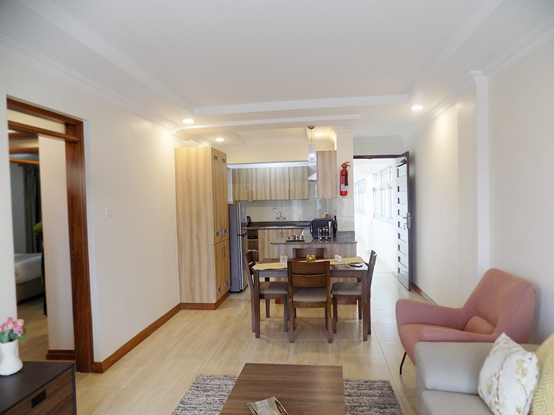 Two (2) Bedrooms Fully Furnished and Serviced Apartments for Rent at Ksh130k on Riverside Drive with outside balcony11