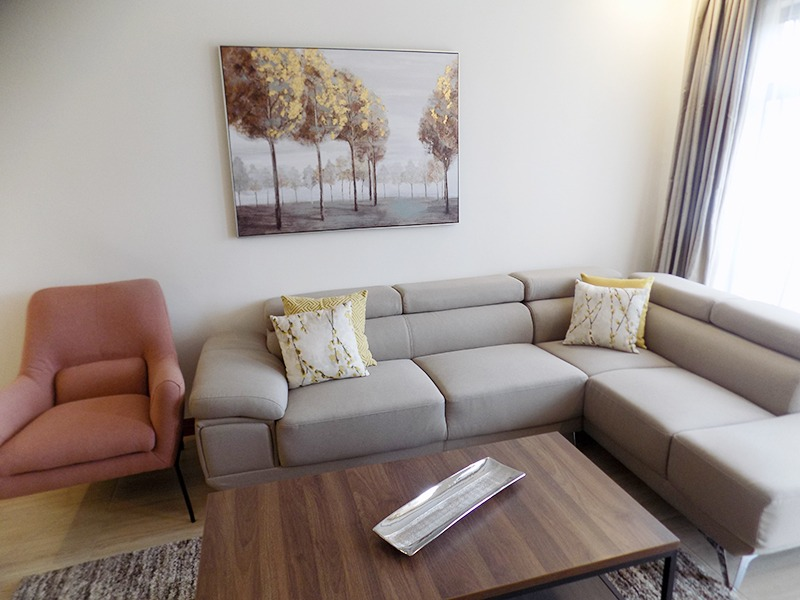 Two (2) Bedrooms Fully Furnished and Serviced Apartments for Rent at Ksh130k on Riverside Drive with outside balcony12