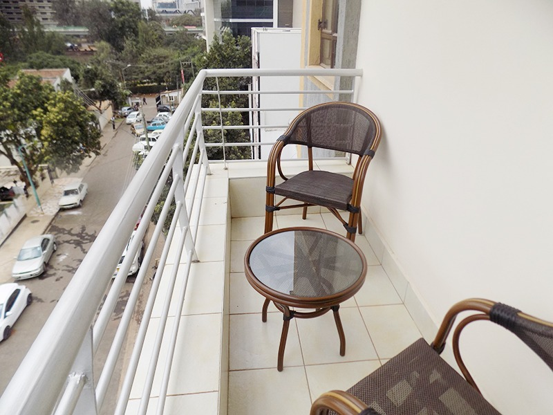 Two (2) Bedrooms Fully Furnished and Serviced Apartments for Rent at Ksh130k on Riverside Drive with outside balcony23