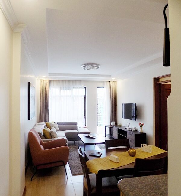 Two (2) Bedrooms Fully Furnished and Serviced Apartments for Rent at Ksh130k on Riverside Drive with outside balcony3