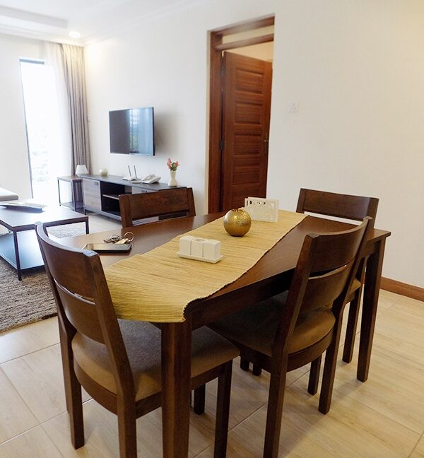 Two (2) Bedrooms Fully Furnished and Serviced Apartments for Rent at Ksh130k on Riverside Drive with outside balcony6