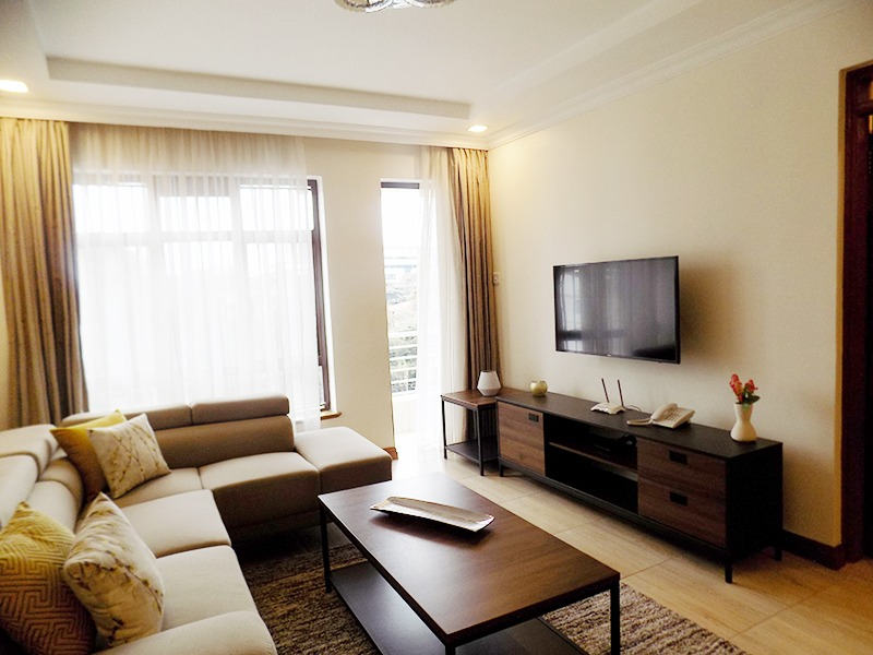 Two (2) Bedrooms Fully Furnished and Serviced Apartments for Rent at Ksh130k on Riverside Drive with outside balcony7