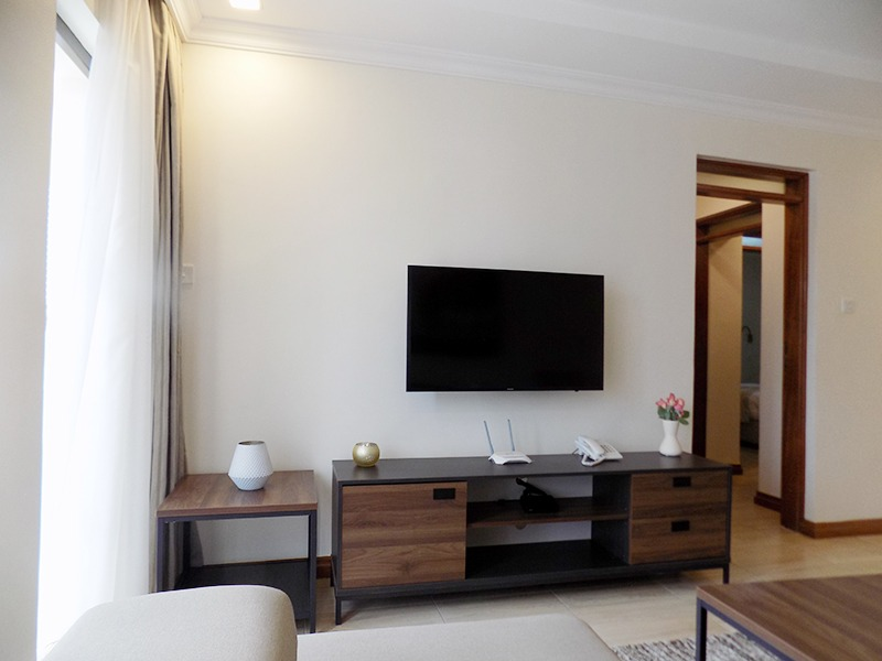 Two (2) Bedrooms Fully Furnished and Serviced Apartments for Rent at Ksh130k on Riverside Drive with outside balcony8