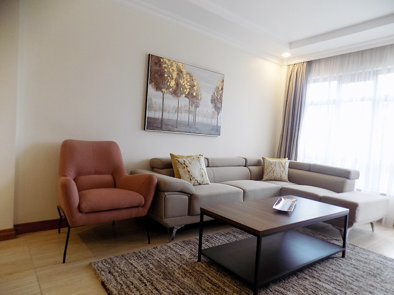 Two (2) Bedrooms Fully Furnished and Serviced Apartments for Rent at Ksh130k on Riverside Drive with outside balcony9